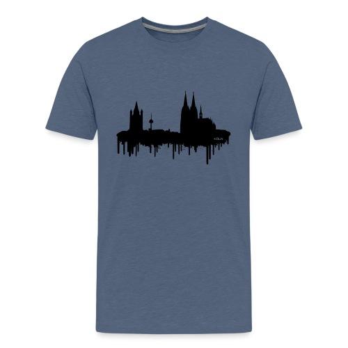 Skyline Köln - Schwarz - Teenager Premium T-Shirt