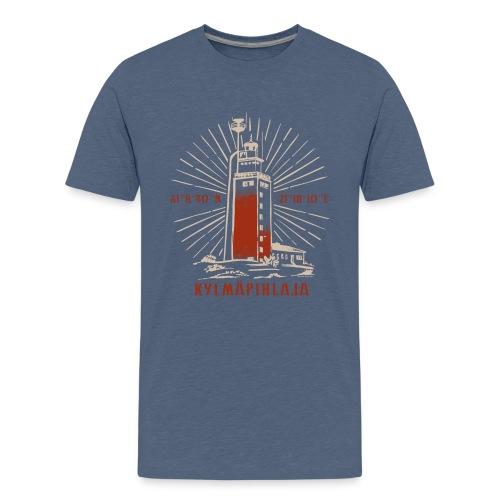 KYLMÄPIHJALAN MAJAKKA tekstiilit ja lahjatuotteet. - Teinien premium t-paita