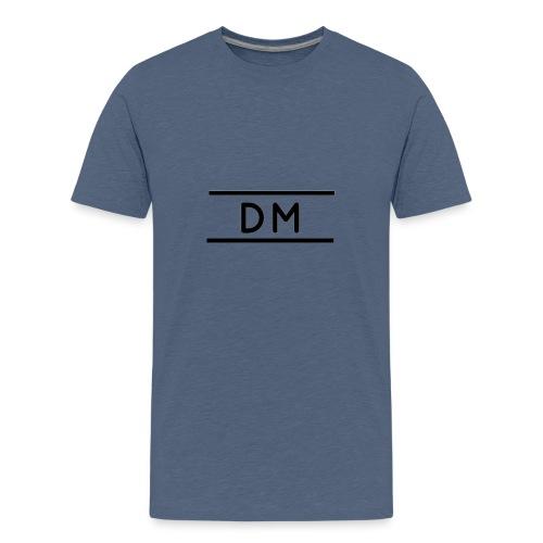 Plain Dm Logo - Teenage Premium T-Shirt