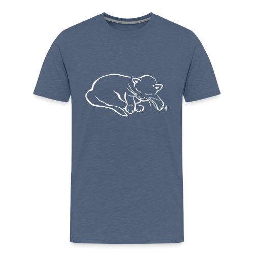Meine kleine Katze schläft - Teenager Premium T-Shirt