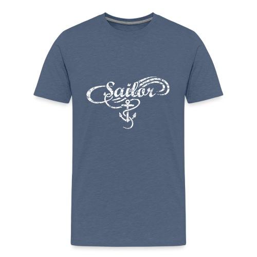 Sailor Anker Waves Segel Segler Segeln - Teenager Premium T-Shirt