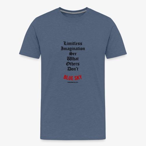 Limitless Imagination Zwart - Teenager Premium T-shirt