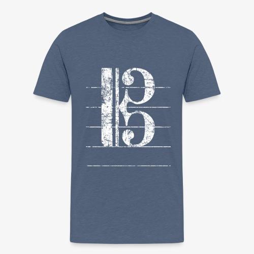 Tenorschlüssel, Notenschlüssel - Teenager Premium T-Shirt