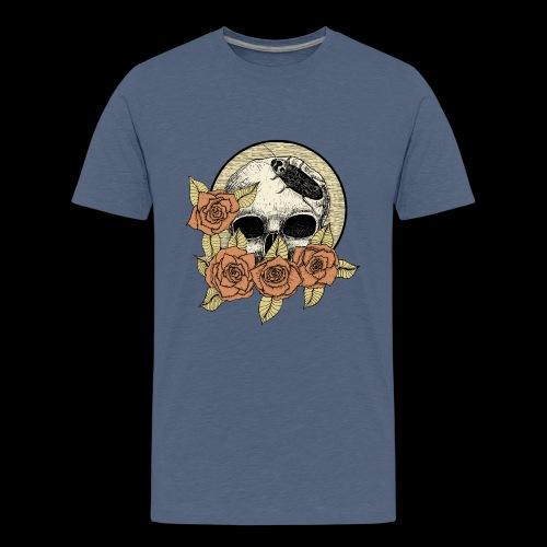Rose et tête de mort - T-shirt Premium Ado
