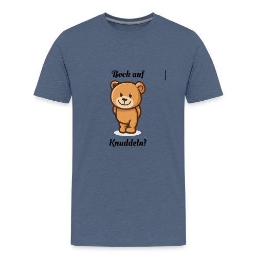 Teddy-Bär: Bock auf Knuddeln - black on white - Teenager Premium T-Shirt