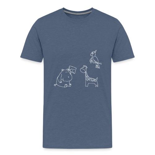 Ein Nilpferd muss aufs WC - Teenager Premium T-Shirt