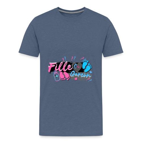 fille ou garçon femme enceinte bébé naissance - T-shirt Premium Ado