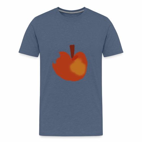 Apfel abgebissen - Teenager Premium T-Shirt