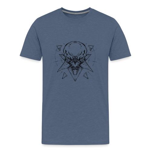 skull demon - T-shirt Premium Ado