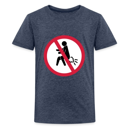 NO Farting Sign - Teenage Premium T-Shirt
