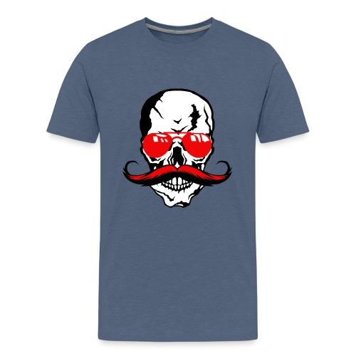tete de mort crane moustache skull moustachu fanta - T-shirt Premium Ado