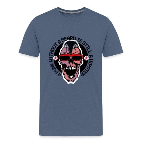 tete de mort hipster punk citation humour crane sk - T-shirt Premium Ado