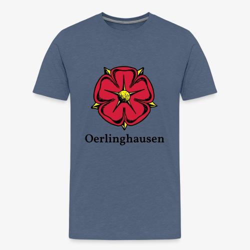 Lippische Rose mit Unterschrift Oerlinghausen - Teenager Premium T-Shirt