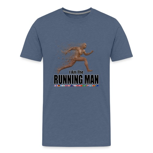 I am the Running Man - Sportswear for real men - Teenage Premium T-Shirt