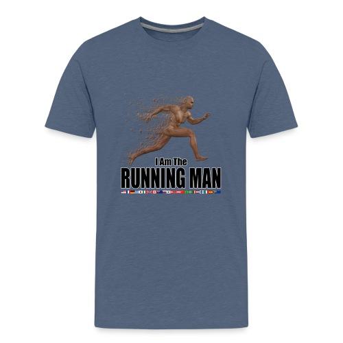 I am the Running Man - Sportswear for real men - Teenage Premium T-Shirt