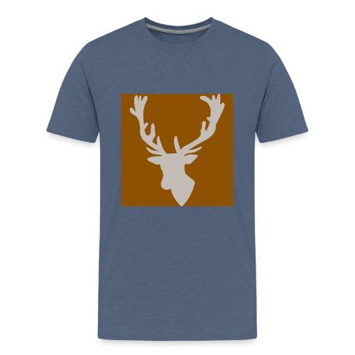 Hirch B BROWN WHITE - Teenager Premium T-Shirt