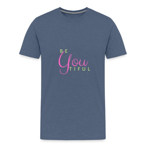 BeYouTiful grün-pink - Teenager Premium T-Shirt