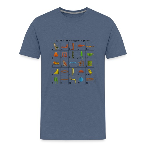 Ägyptisches Alphabet - Teenager Premium T-Shirt