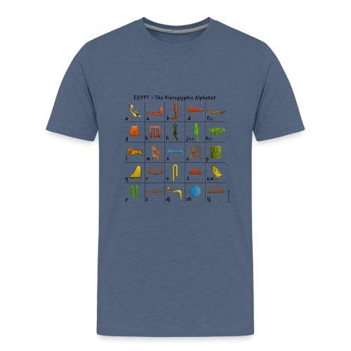 Ägyptisches Alphabet - Teenager Premium T-Shirt