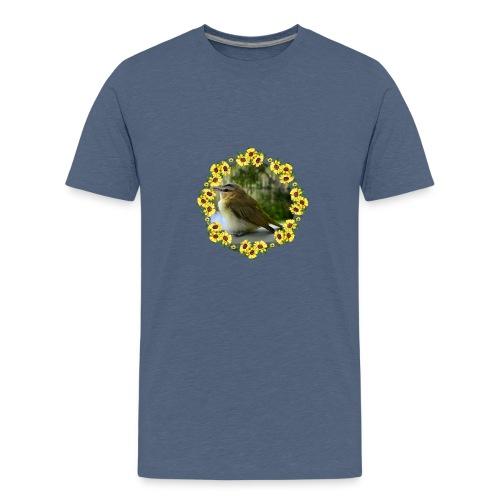 Vögelchen im Blumenkranz - Teenager Premium T-Shirt
