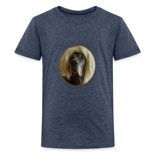 D O G G E mit Perücke - Teenager Premium T-Shirt