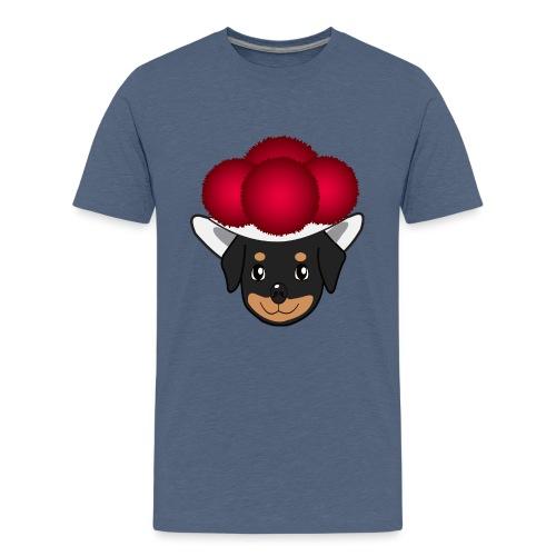 Baby-Rottweiler mit Bollenhut - Teenager Premium T-Shirt