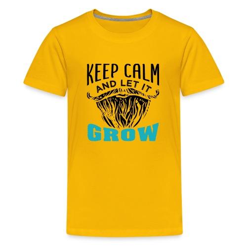 Beard Keep Calm And Let It Grow - Teenager Premium T-Shirt