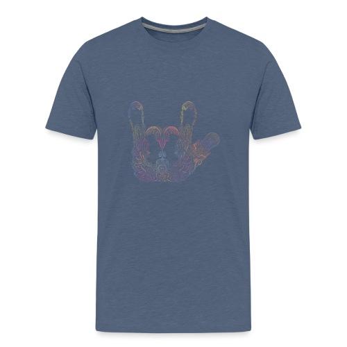 ILY Handzeichen Mandala - Teenager Premium T-Shirt