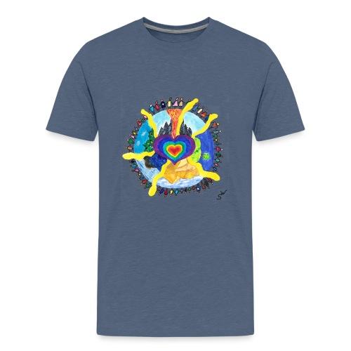 Herzwelt - Teenager Premium T-Shirt