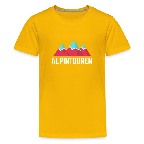 Alpintouren Logo - Teenager Premium T-Shirt