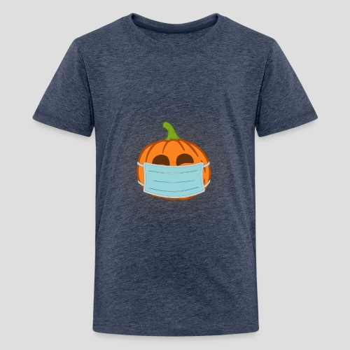 Kürbis mit Mundschutz / Maske - Teenager Premium T-Shirt