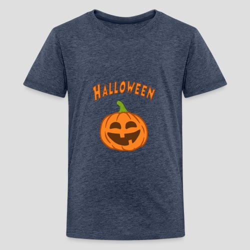Halloween Kürbis - Teenager Premium T-Shirt