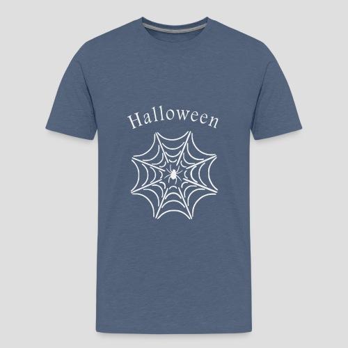Halloween Spinnennetz - Teenager Premium T-Shirt