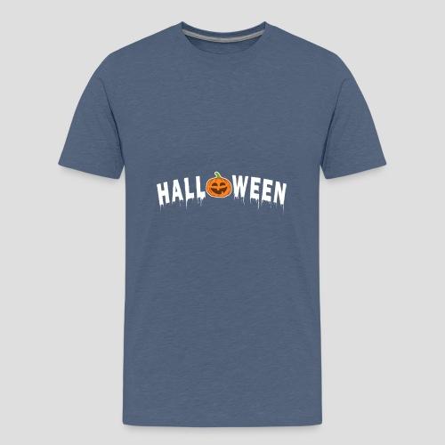 HALLOWEEN - mit Kürbis in Weiß - Teenager Premium T-Shirt