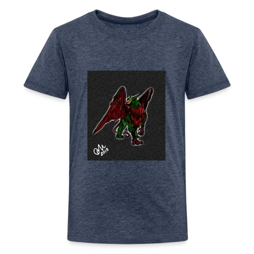 Grifone verde-rosso - Maglietta Premium per ragazzi