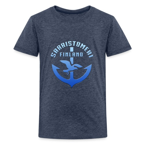 SAARISTOMERI FINLAND ANKKURI Tekstiilit ja lahjat - Teinien premium t-paita