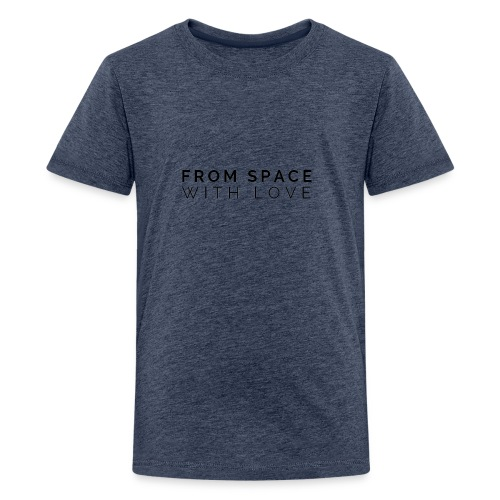 From Space With Love logo - Teenage Premium T-Shirt