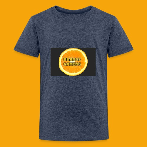 Orange_Logo_Black - Teenage Premium T-Shirt