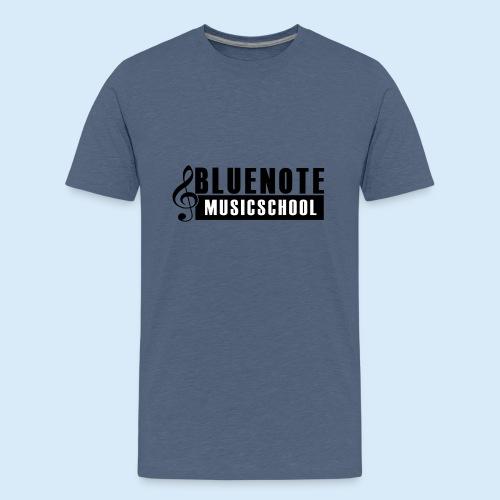 Bluenote Musicschool Logo Schwarz/Weiss - Teenager Premium T-Shirt