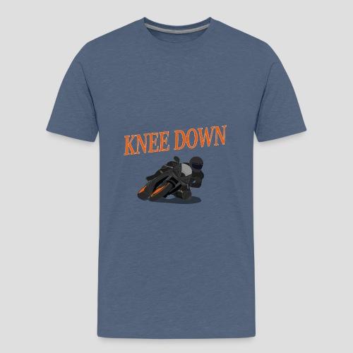 Knee Down - Motorrad | Biker - Teenager Premium T-Shirt