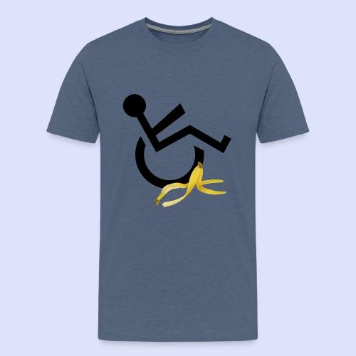 Rolstoel gebruiker glijdt uit over banaan - Teenager Premium T-shirt