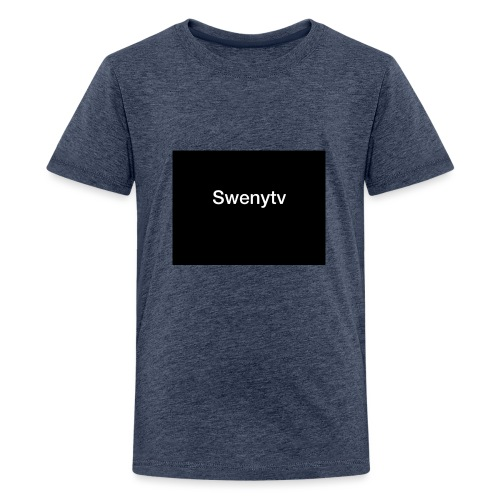swenytv zwart logo - Teenager Premium T-shirt
