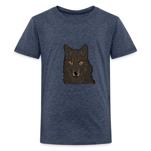 HikingMantis Wolf png - Teenager premium T-shirt