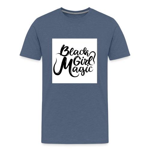 Black Girl Magic 1 Black Text - Teenage Premium T-Shirt