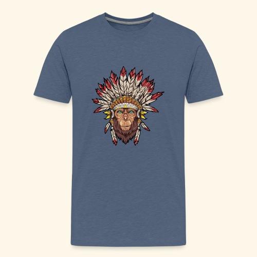 Tête de singe singes drôles - T-shirt Premium Ado