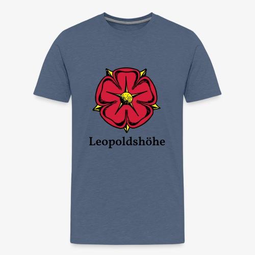 Lippische Rose mit Unterschrift Leopoldshöhe - Teenager Premium T-Shirt