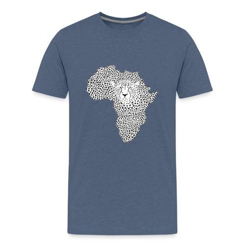 Symbol Africa in cheetah camouflage - Teenager Premium T-Shirt
