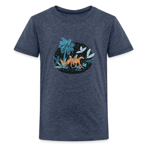 Saluki im Tropenwald - Teenager Premium T-Shirt