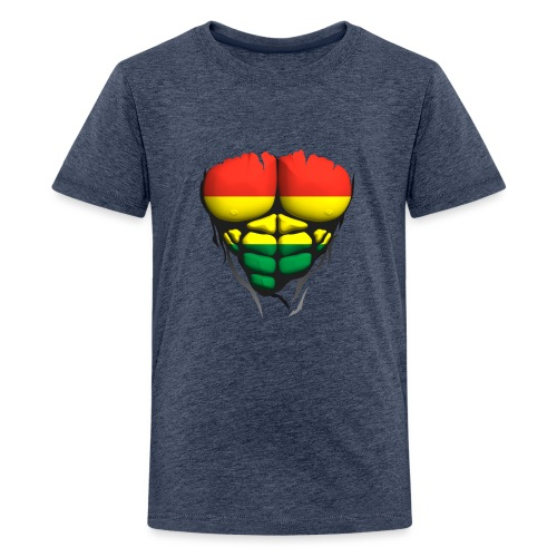lituanie drapeau torse corps muscle abdo - T-shirt Premium Ado