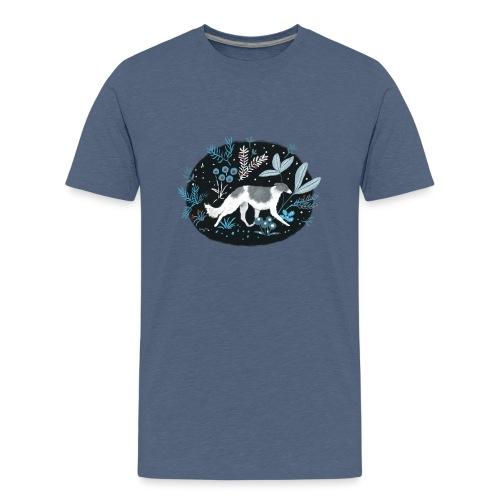 Barsoi im Mitternachtswald - Teenager Premium T-Shirt